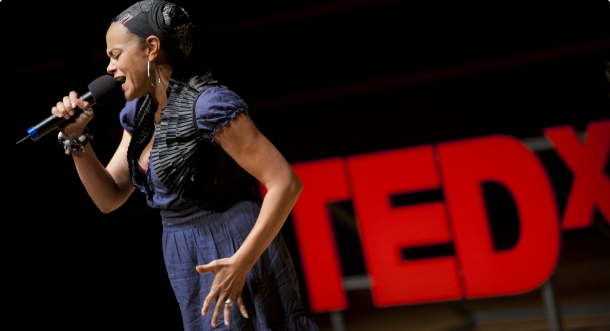 Ursula Rucker at TEDxPhiladelphia 2011. Photo by Kevin Monko