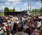 Funeral for a Home, May 31, 2014, 3711 Melon St., Philadelphia, PA_Photo by Jeffrey Stockbridge