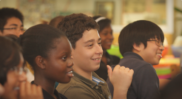 Students at a Young Playwrights in-school mini-festival